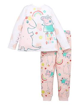 peppa-pig-girls-peppa-pig-loves-dino-pyjamasnbsp--white
