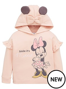 minnie-mouse-girls-disney-minnie-mouse-frill-sleeve-hoodie-with-ear-details-pink