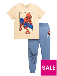 spiderman-boys-spiderman-two-piece-t-shirt-and-jogger-set-multi