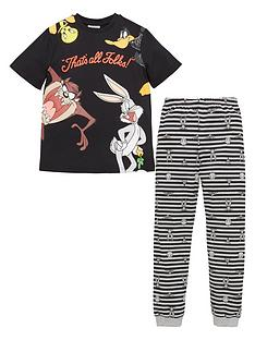looney-tunes-boys-thats-all-folks-short-sleeve-pjs-black