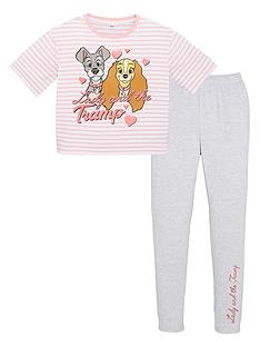 disney-lady-and-the-tramp-girls-disney-lady-and-the-tramp-stripe-pjs-multi