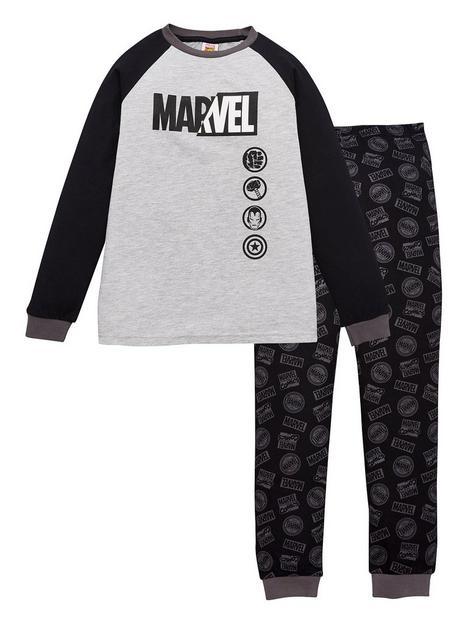marvel-boys-marvel-logo-raglan-pjs-grey