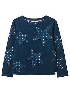 white-stuff-girlsnbspstar-applique-sweatshirtnbsp--indigo