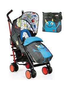 cosatto-supa-2-stroller-change-bag-and-footmuff-bundle-monster-mob