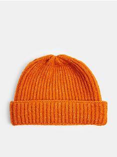 topman-docker-beanie-hat--nbsporange