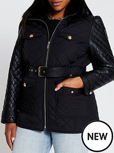 ri-plus-ri-plus-lightweight-quilted-belted-jacket-black