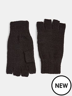 topman-fingerless-gloves-blacknbsp