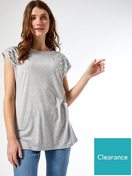 dorothy-perkins-sequin-short-sleeve-t-shirtnbsp--grey