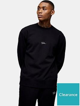 topman-signature-logo-crew-neck-sweatshirt-black