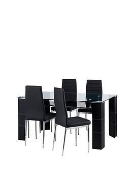 julian-bowen-set-of-greenwich-dining-table-4-greenwich-chairs