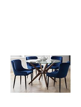 julian-bowen-chelsea-120nbspcm-round-dining-table-4-luxe-blue-chairs