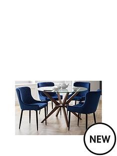 julian-bowen-set-of-chelsea-120cm-table-4-luxe-blue-chairs