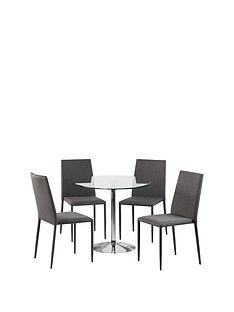 prod1089644011: Set Of Kudos Table & 4 Jazz Grey Chairs
