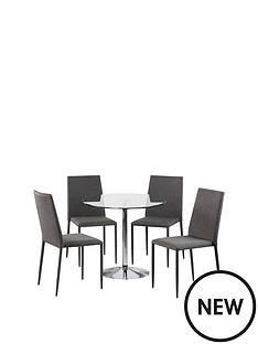 julian-bowen-set-of-kudos-table-4-jazz-grey-chairs