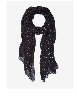 mint-velvet-mini-star-printed-scarf-black