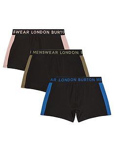 burton-menswear-london-3-pack-trunks-black