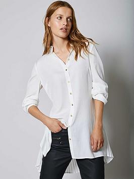 mint-velvet-pleat-back-longline-shirt-ivory