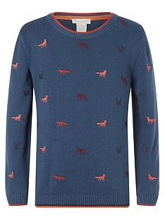 monsoon-boys-fox-embroidered-organic-knitted-jumper-teal