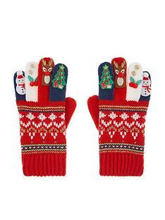 monsoon-girls-festive-novelty-gloves-red