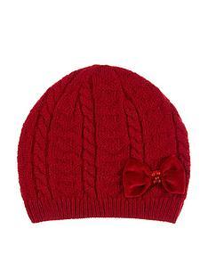 monsoon-girls-ruby-heart-velvet-bow-cable-beanie-hat-red