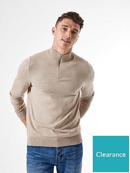 burton-menswear-london-half-zip-jumper-neutral
