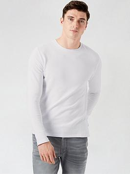 burton-menswear-london-ribbed-texture-long-sleeve-shirt--nbspwhitenbsp