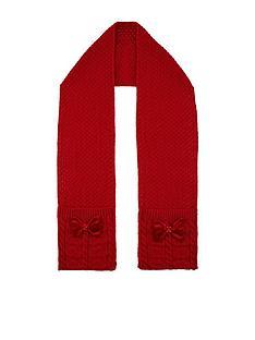 monsoon-girls-ruby-heart-velvet-bow-cable-scarf-red