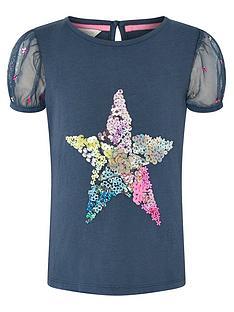monsoon-girls-sew-star-puff-sleeve-top-navy
