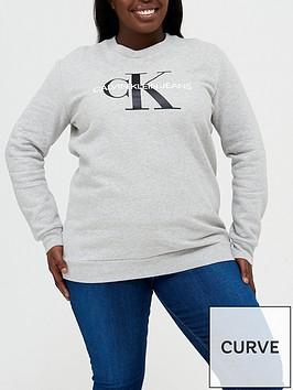 calvin-klein-jeans-plusnbspcore-monogram-logo-sweatshirt-grey-marl