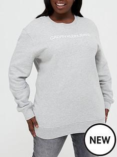 calvin-klein-jeans-plus-institutional-core-logo-sweatshirt-grey-marl