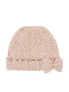 monsoon-girls-poppy-fluffy-sparkle-bow-beanie-hat-pink