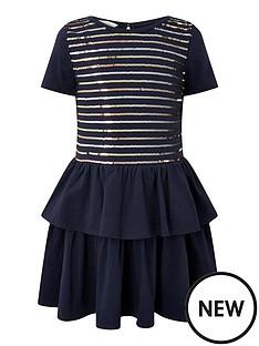 monsoon-girls-sequin-stripe-jersey-tiered-dress-navy