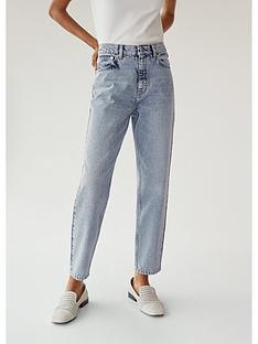 mango-acid-wash-straight-leg-jeans-blue