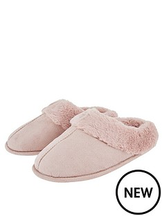 accessorize-suedette-mule-slippers-pink