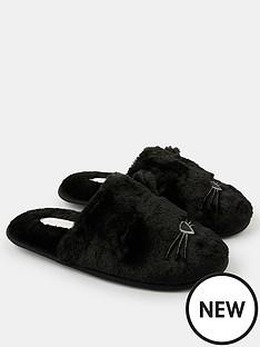 accessorize-furry-cat-mule-slippers-black