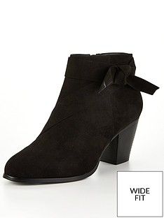 v-by-very-farria-wide-fit-knot-detail-block-heel-ankle-boots-black