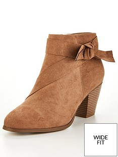 v-by-very-farria-wide-fit-knot-detail-block-heel-ankle-boots-taupe