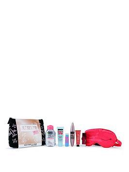 maybelline-makeup-kit-jet-setter-primer-mascara-lipstick-blusher-amp-micellar-water-christmas-gift-set-travel-kit-for-her