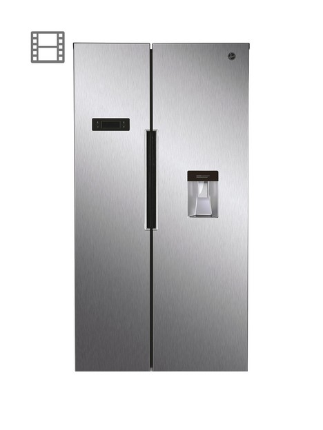 hoover-hhsbso-6174xwdk-total-no-frost-side-by-side-fridgenbspfreezer-with-water-dispenser--nbspstainless-steel