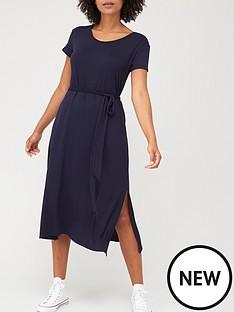 v-by-very-short-sleeve-jersey-midi-dress-navy