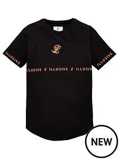 illusive-london-boys-orange-taped-short-sleeve-t-shirt-black