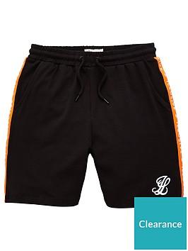 illusive-london-boys-orange-taped-shorts-black