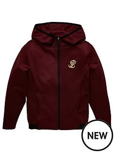 illusive-london-boys-agility-zip-through-hoodie-burgundy