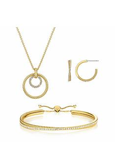 prod1089675144: Cleo Earring, Pendant and Bracelet Jewellery Gift Set with FREE Gift Bag