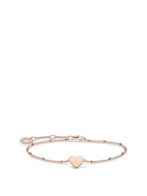 thomas-sabo-rose-gold-plated-sterling-silver-heart-bracelet