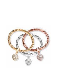prod1089675240: Buckley London Mesh Heart Bracelet Stack Trio FREE GIFT BAG