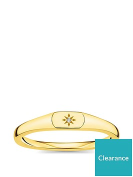thomas-sabo-thomas-sabo-gold-plated-sterling-silver-and-cubic-zirconia-stacking-signet-ring