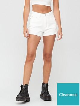 missguided-missguidednbspriot-raw-hem-mom-shorts-white