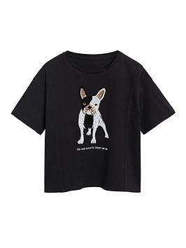 mango-girls-french-bulldog-short-sleeve-t-shirt-black