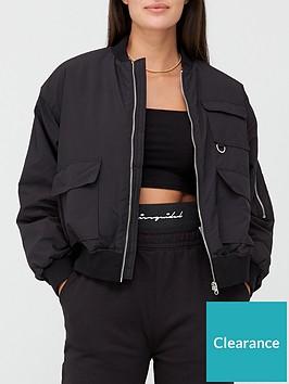 missguided-missguidednbspoversized-pocket-bomber-jacket-black